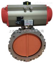 D971F49-16P耐腐蚀电动对夹不锈钢衬氟蝶阀,