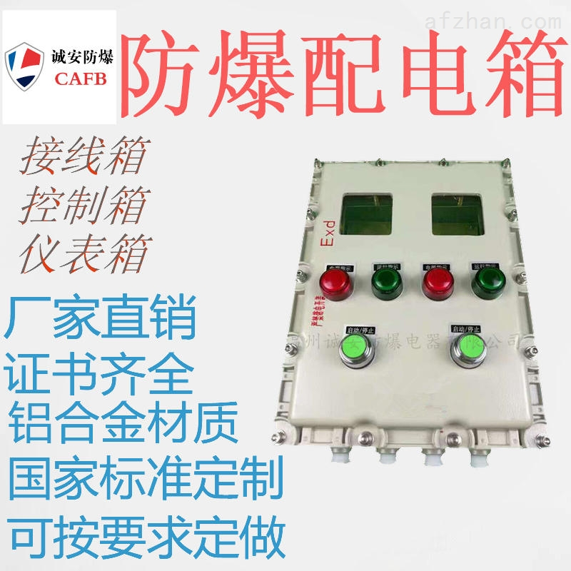400 500防爆控制箱 内置4块温控仪