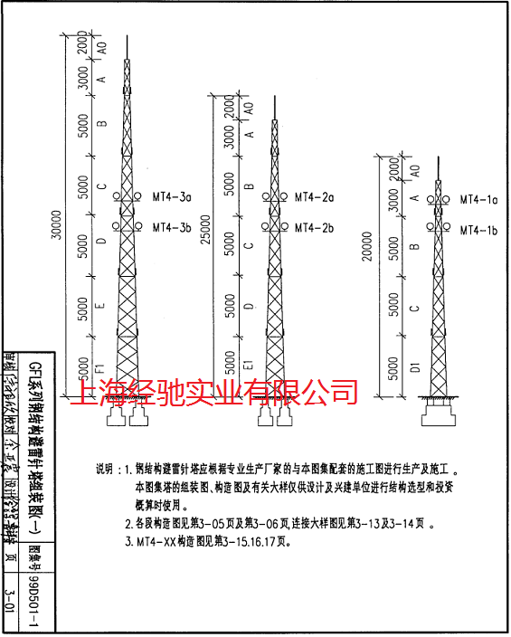 GFL系列钢结构避雷针塔 避雷塔主要用于各种建筑的防雷工程,特别是炼油厂,加油站,化工厂,煤矿,炸药库,易燃易爆车间,更应该及时的安装避雷塔,因气候变化,雷电灾害不断加重,现在很多建筑都安装避雷塔,特别是楼顶不锈钢饰铁塔,造形样式多样,外形美观,设计新颖独特,广泛应用于各类大楼楼顶、广场及小区的绿地等的建筑,使之与建筑物交相辉映,成为城市中标志性的装饰建筑。避雷塔原理与避雷针一样。减少雷电灾害。避雷塔使用条件:   1、基本风压:w0=0.