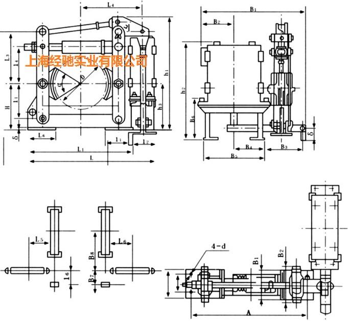jcz-600/100h交流电磁块式制动器