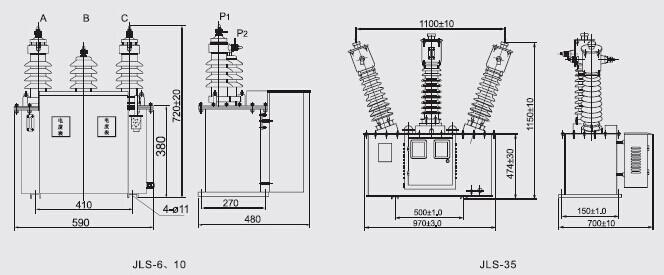 6000/100电力计量箱jls-35
